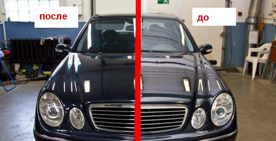 Покрытие авто жидким стеклом