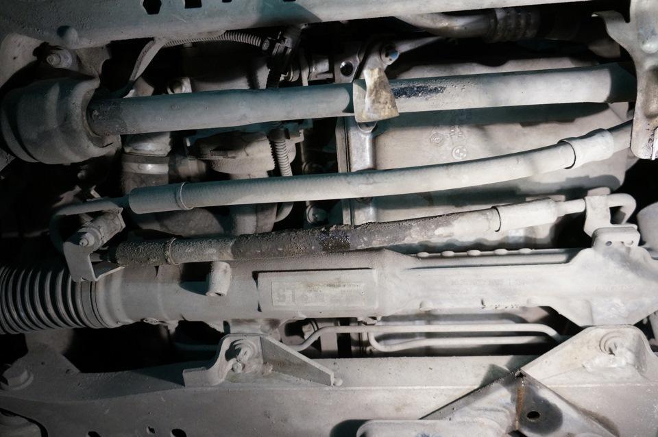 Замена шлангов и трубок ГУР