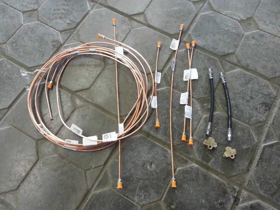 Замена тормозных трубок